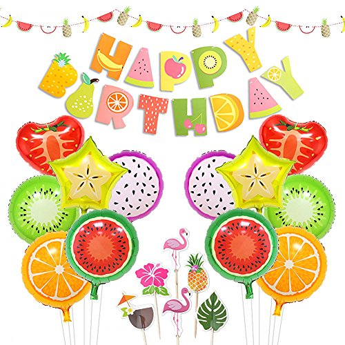 LUCK COLLECTION Tutti Frutti Party Decorations Fruit Happy