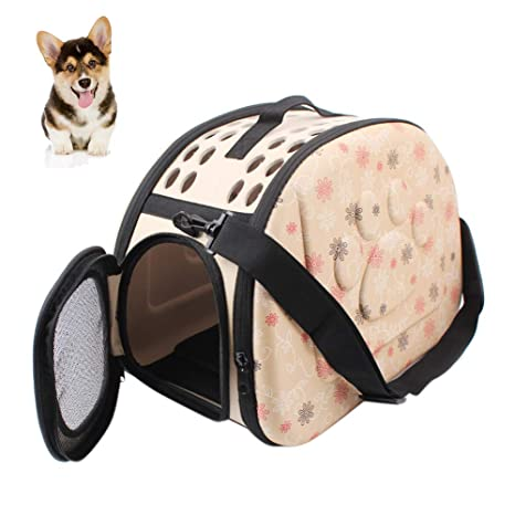 Pet Carrier Bolsa de Transporte Plegable Perros y Gatos Caja de Transporte Mascotas portaequipajes Pet Carrier