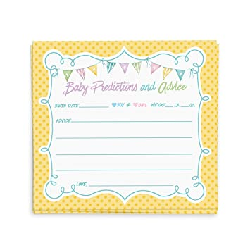 Baby Shower Advice Cards, Advice For The New Mommy | Baby Shower Games,  Favors