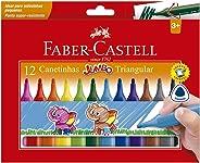 Canetinha Hidrográfica, Faber-Castell, Jumbo, 15.0212J, 12 Cores
