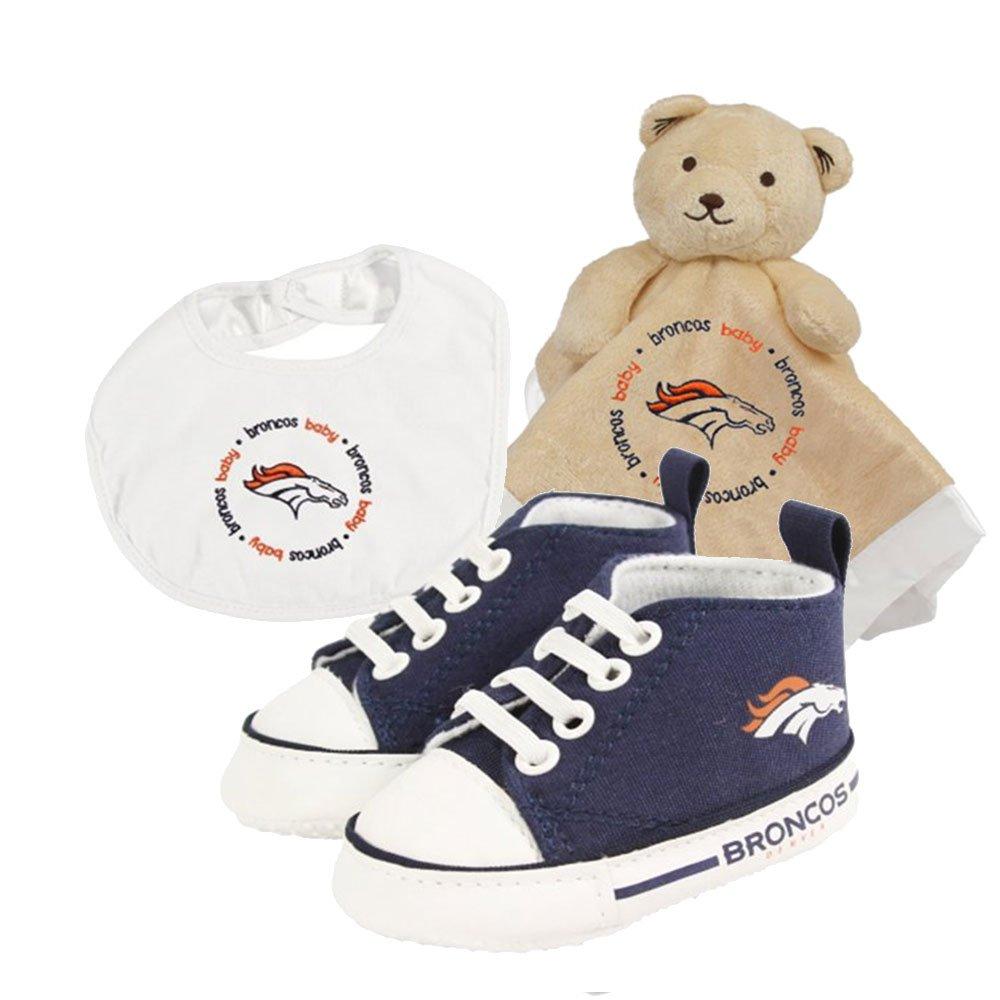 高い品質 Denver Broncos NFL幼児毛布、よだれかけ、靴デラックス ...