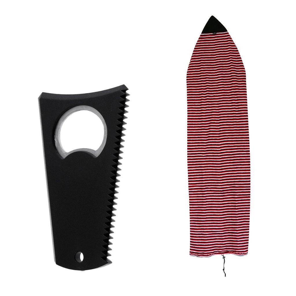 FLAMEER 6'0 Surfboard Shortboard Stretch Socke + Wachskamm