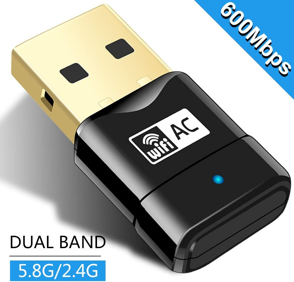 USB WiFi Adapter 600Mbps Wireless Adapter Dual Band 2.4G 5G Wireless WiFi Dongle Network Card for for Laptop Destop Win XP//7//8//10
