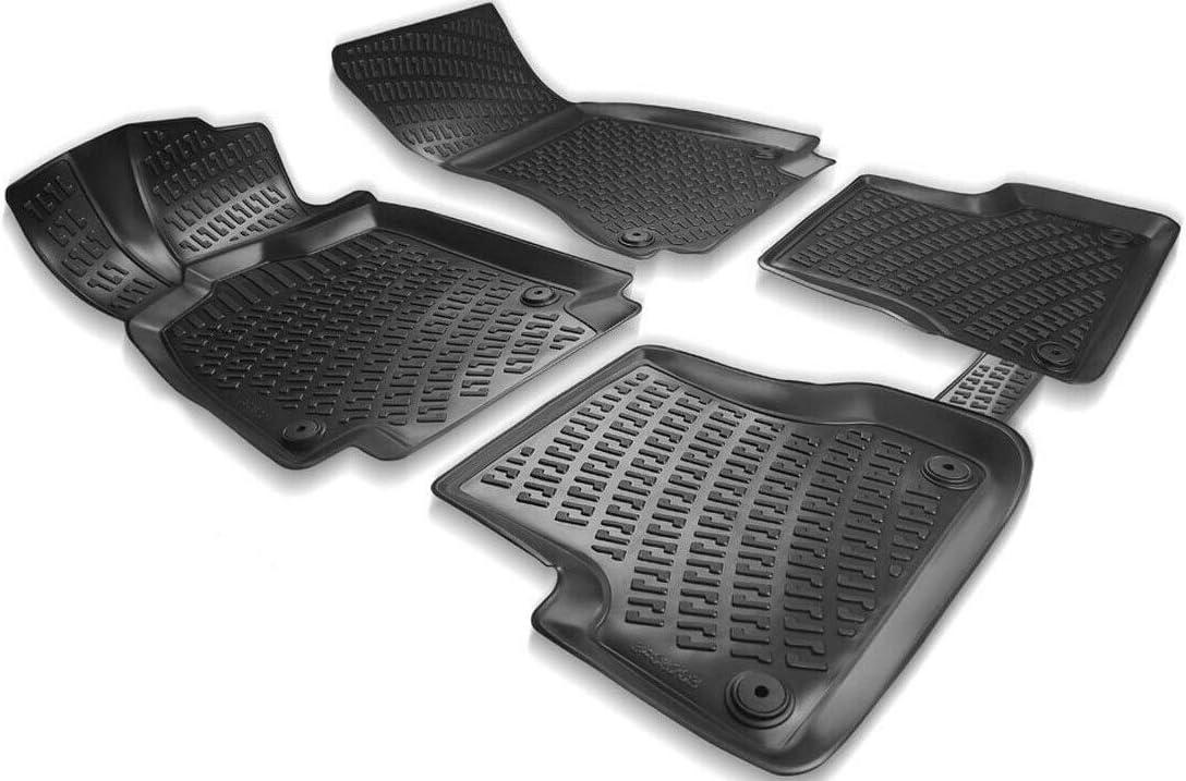 Baujahr 2004-2011 Elmasline Design 3D Gummimatten Set f/ür Audi A6 Extra hoher 5cm Rand C6