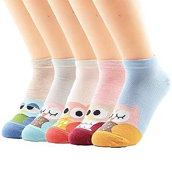 LILIKI@ Calcetines Calientes Ocasionales De Las Mujeres Modelo Encantador De Los Animales Calcetines Divertidos Calcetines