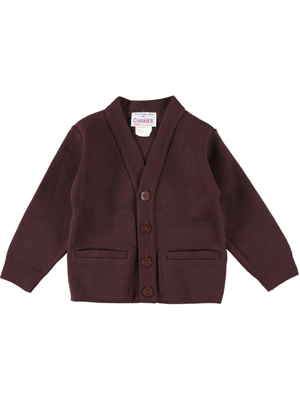 Cookie's Brand Big Boys' Cardigan Sweater - burgundy, 12