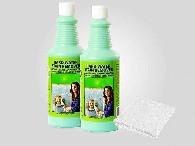 Bio Clean: duro agua quitamanchas: comprar 1 botella de limpiador (2oozmedium) Get 2 nd mitad Off. Plus 1 libre gamuza de Magic limpiador. Elimina Tough duro agua manchas provocadas por depósitos minerales