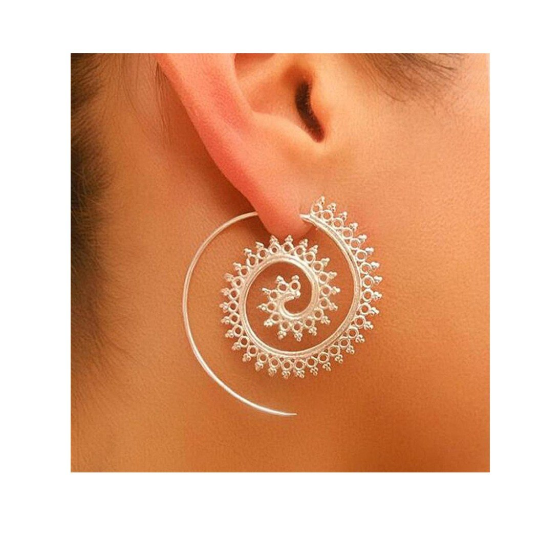 Kinrui Stainless Steel Rounded Hoops Alloy Earrings (Model A)