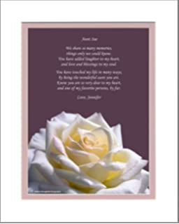 personalized gift for aunt with you are a wonderful aunt poem peace rose - Christmas Gifts For Aunts