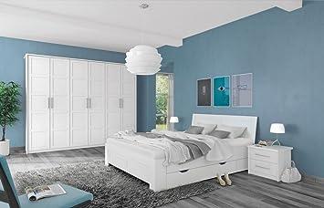Schlafzimmer Komplett   Set A Samoa, 5 Teilig, Farbe: Weiß