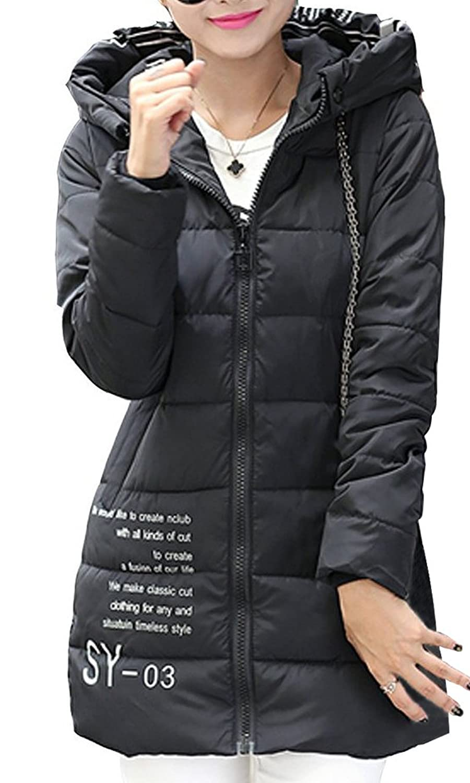BININBOX® Damen Parka Jacke Daunenmantel Daunenjacke mit Kapuze Steppjacke Warmen Wintermantel 6 Farben