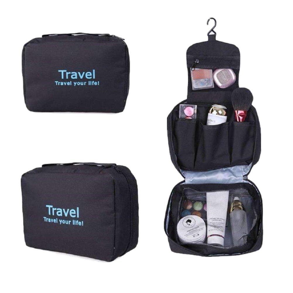 Ducomi Travel Life! Beauty Case - Borsa da Viaggio - Organizzatore Viaggio Unisex - Misura Aperto: 22 x 61 cm (Orange) 0647903012923