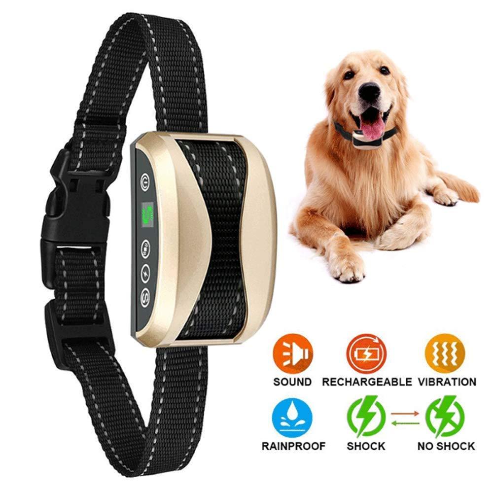 Anti Barking Dog Collar, Waterproof Rechargeable Electric Remote Control Dog Collar 4 Training Modes AntiBarking Device Pet Supplies