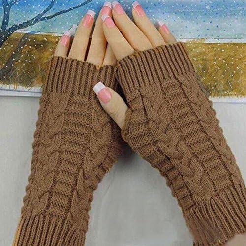 KEERADS Man Women Warm Winter Thermal Thinsulate Knit Hand Wrist Fingerless Gloves Mittens