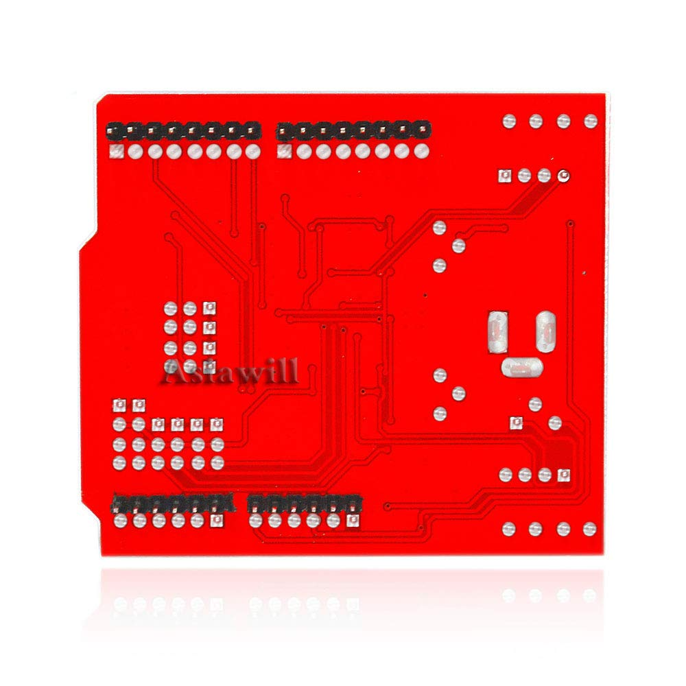 Asiawill/® Dual Step Motor Driver Shield Expansion Board for Arduino Red