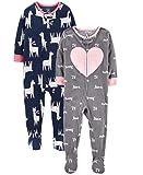 Carter's Baby Toddler Girls 2-Pack Fleece Pajamas
