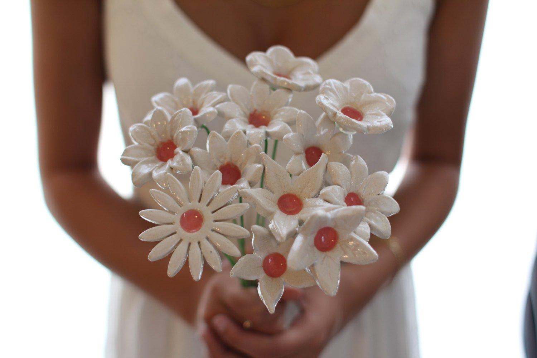 Amazon Com Handmade Ceramic Alternative Wedding Bridal Bouquet