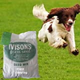 5 KG GRASS SEED QUALITY SEED HARD WEARING PLAY AREAS FRONT AND BACK LAWNS IVISONS SEEDS