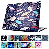 YMIX  Plastic Cover Snap on Hard Protective Case for MacBook Air 13'(A1466 & A1369) , #Happy Ocean
