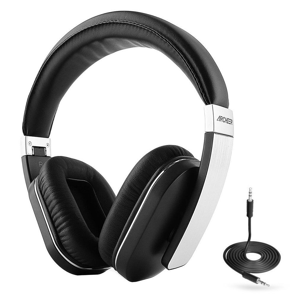 Bluetooth Headphones ARCHEER AH07 Wireless Headphone Foldable Over Ear Headphones with Microphone, AptX Stereo Sound Headset for Travel Work TV Computer Smartphones