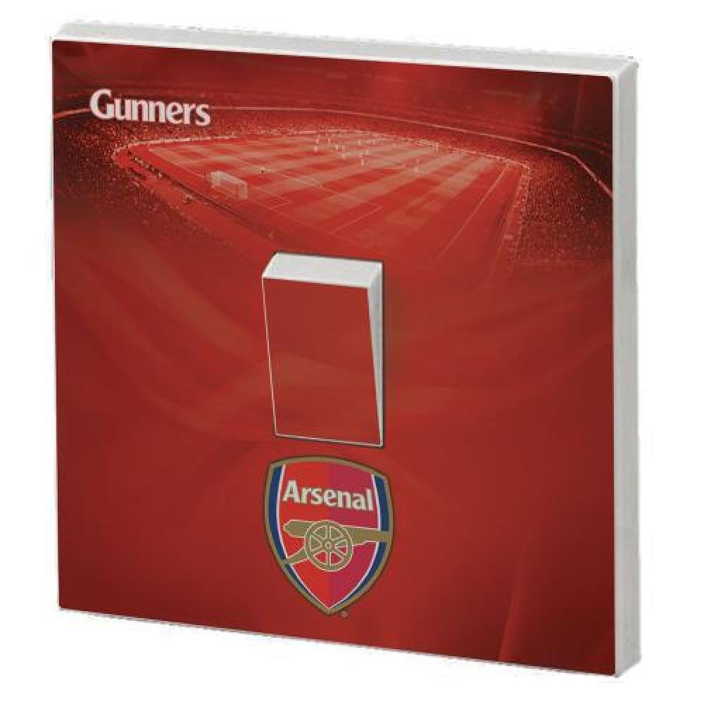 Arsenal FC Official Football Gift Light Switch Skin - A Great Christmas / Birthday Gift Idea For Men And Boys