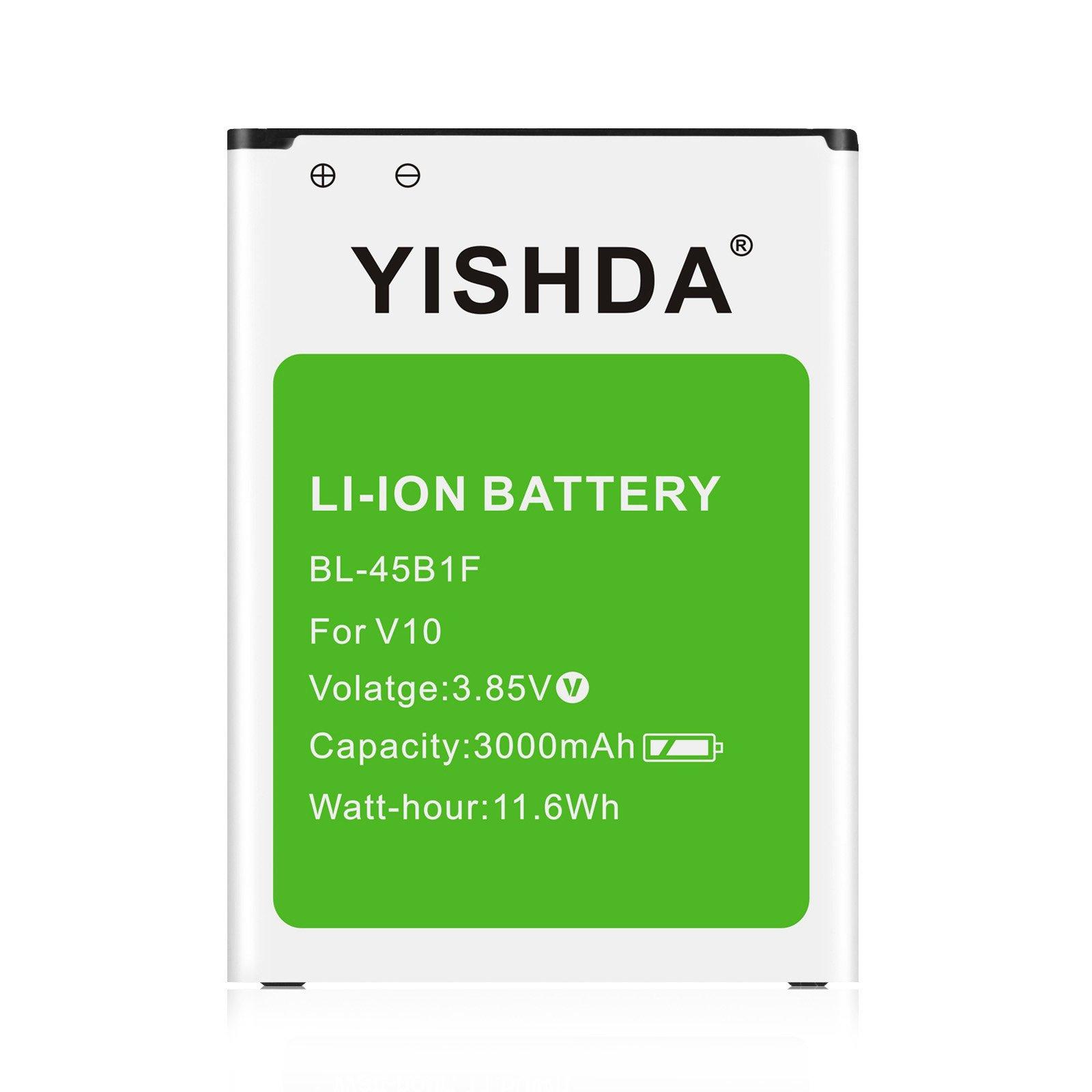 Bateria Celular LG V10 YISHDA 3000mAh Li ion LG BL 45B1F para V10 H961N H960A H900 AT&T VS990 H901 Cell Phones| LG V10 S