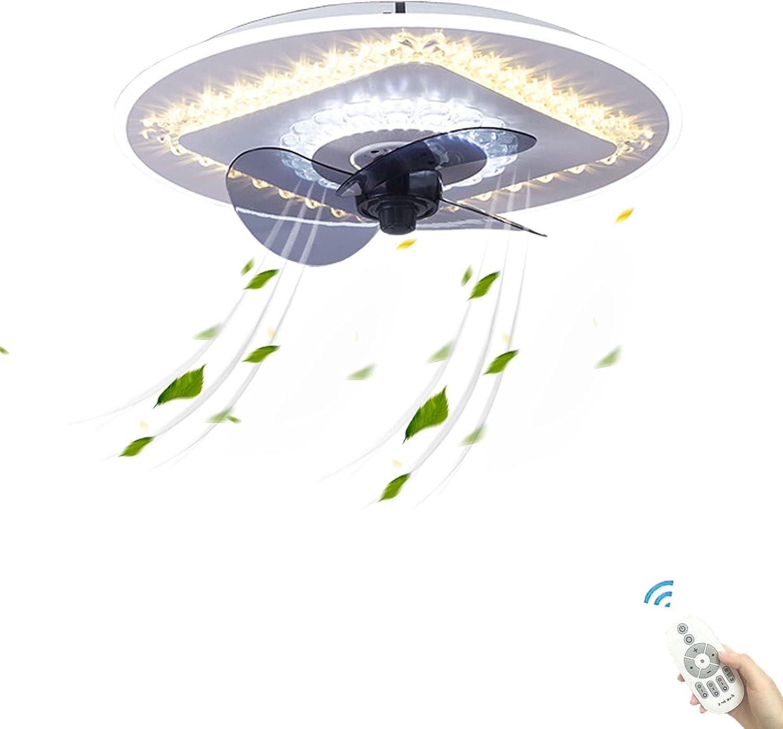 LED Lampara Ventilador Techo con Luz y Mando a Distancia Silencioso Sin Aspas Juvenil Infantil DC Industrial Moderna Dormitorio Regulable Ventilador Iluminación Luces Dormitorio Sala Baratos Inspire