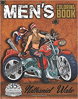 mens coloring book a manly mans adult coloring book cyborg women futuristic battles women and motorcycles adult coloring books volume 4