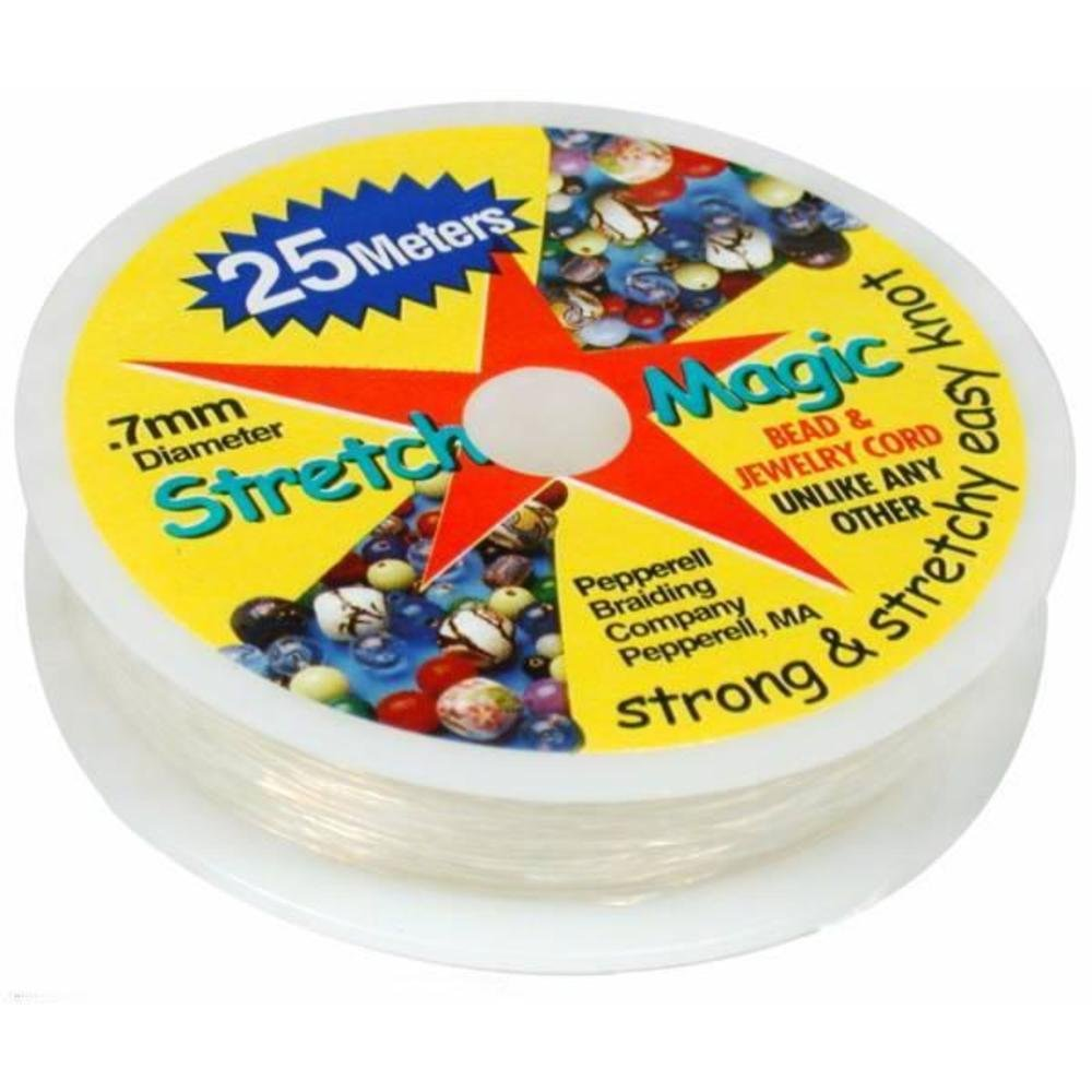 Stretch Magic Clear Bead Cord.7mm 25 meters about 82ft