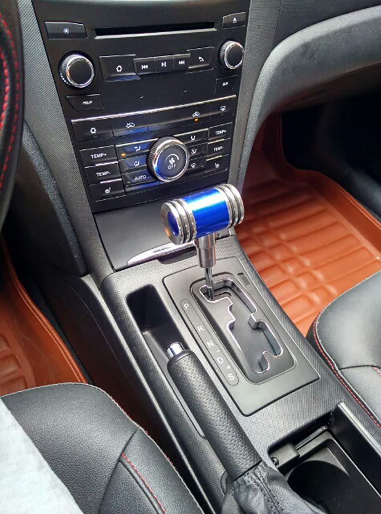 NEW POWER WYYINLI Universal Manual Automatic Transmission Shift Knob T-Handle Refited Shift Knob Head with Adapter Red