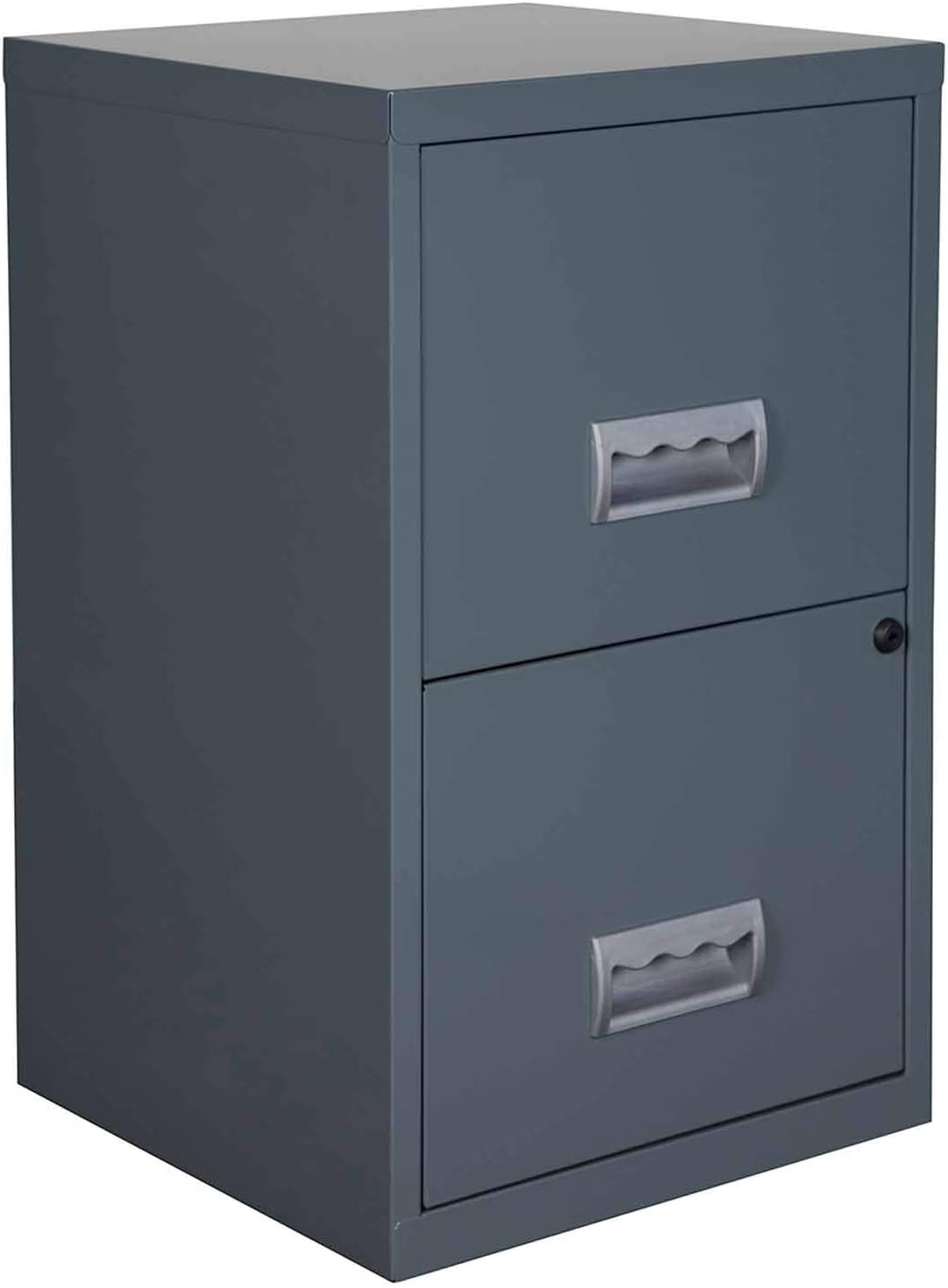 Granite Color Pierre Henry Metal 2 Drawer Maxi Filing Cabinet A4