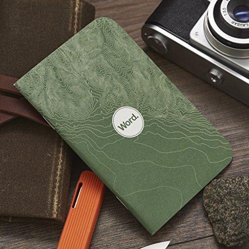 Word. Notebooks Green Terrain - 3-Pack Small Pocket Notebooks Photo #6