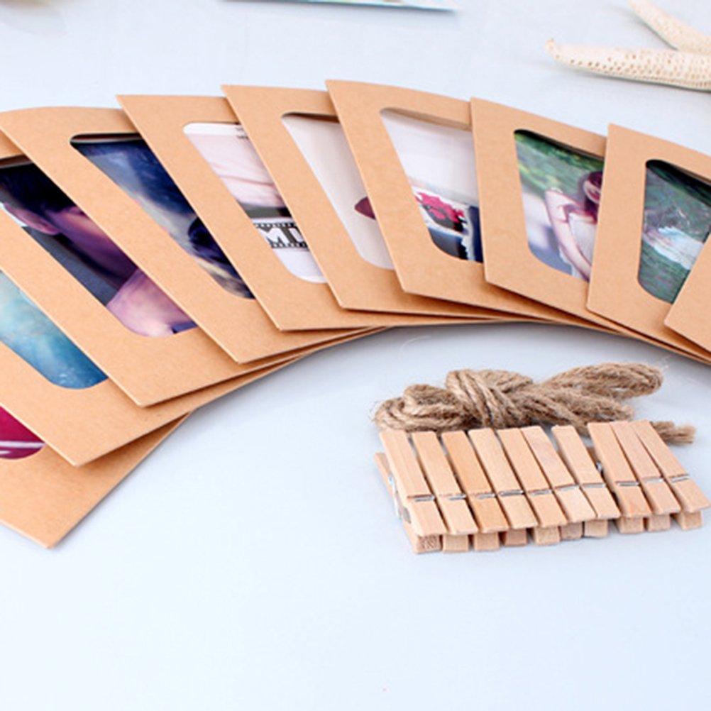 Vosarea 6/Inch Papel de estraza Fotos Distressed Pared decoraci/ón DIY para im/ágenes 30/Unidades