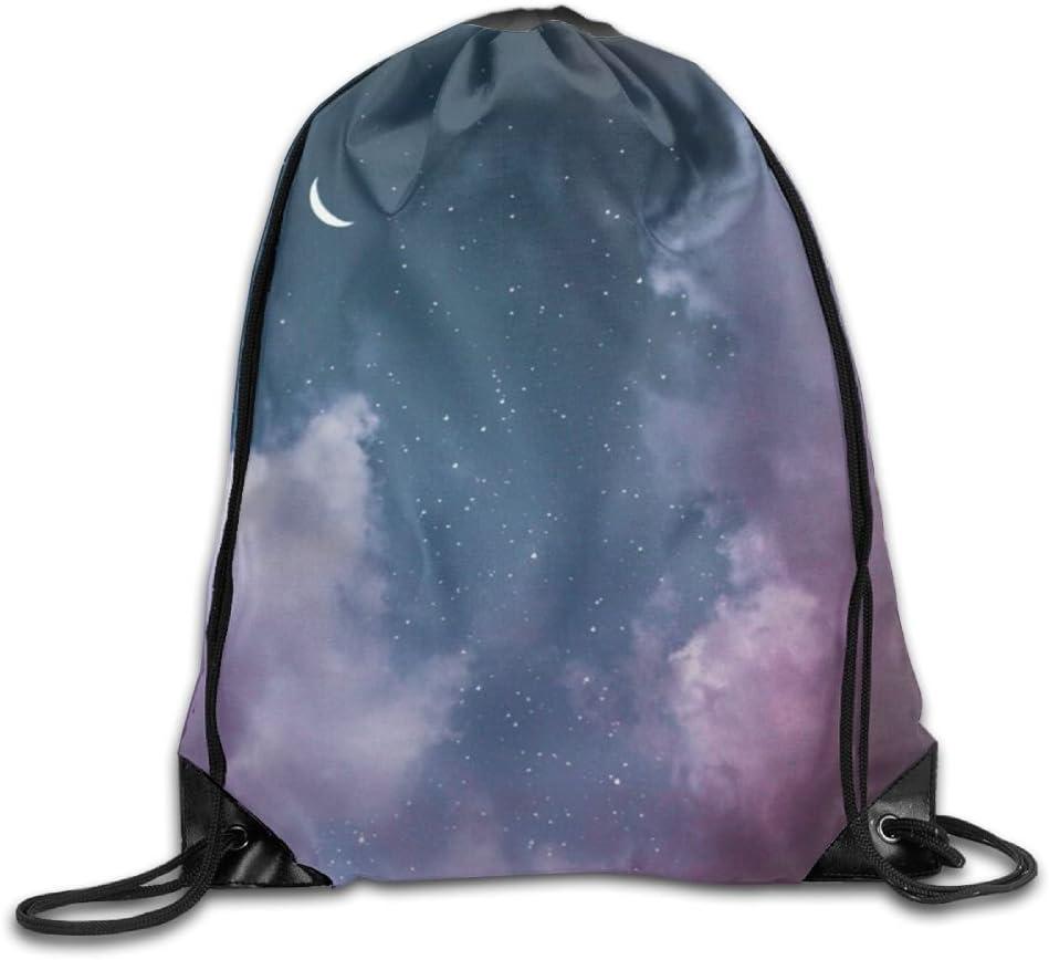 Beautiful Sky Drawstring Backpack Rucksack Shoulder Bags Training Gym Sack For Man And Women