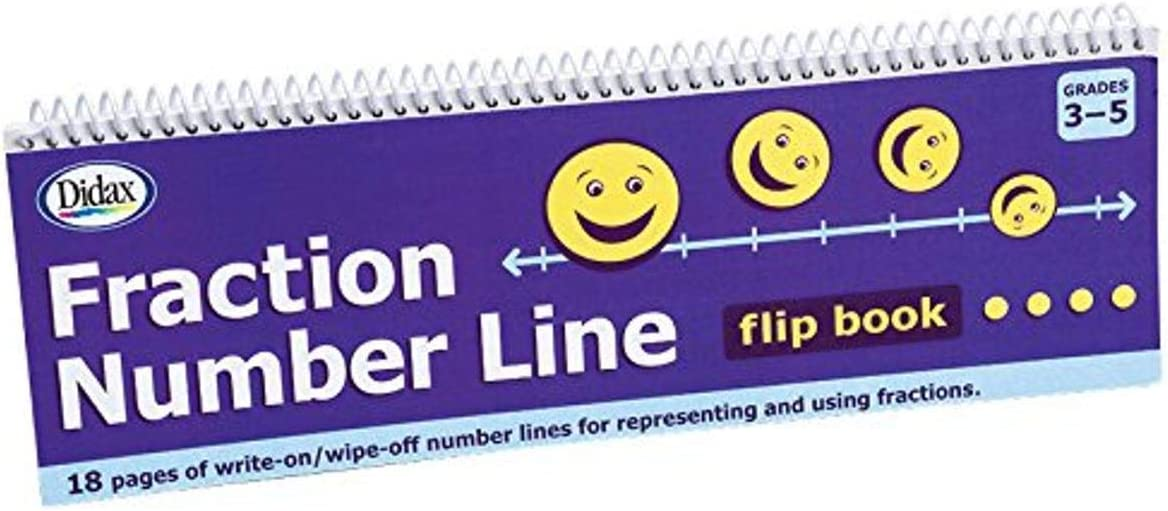 Didax Educational Resources Fraction# Line Flip Book Math Resource