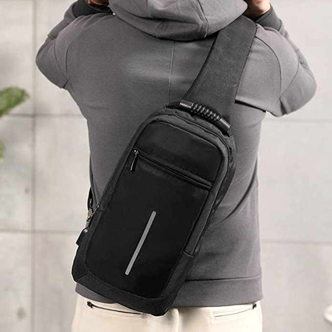 ada000e7e0a4 Amazon.com : Inkach Mens Crossbody Bags - Reflective Tape Messenger ...