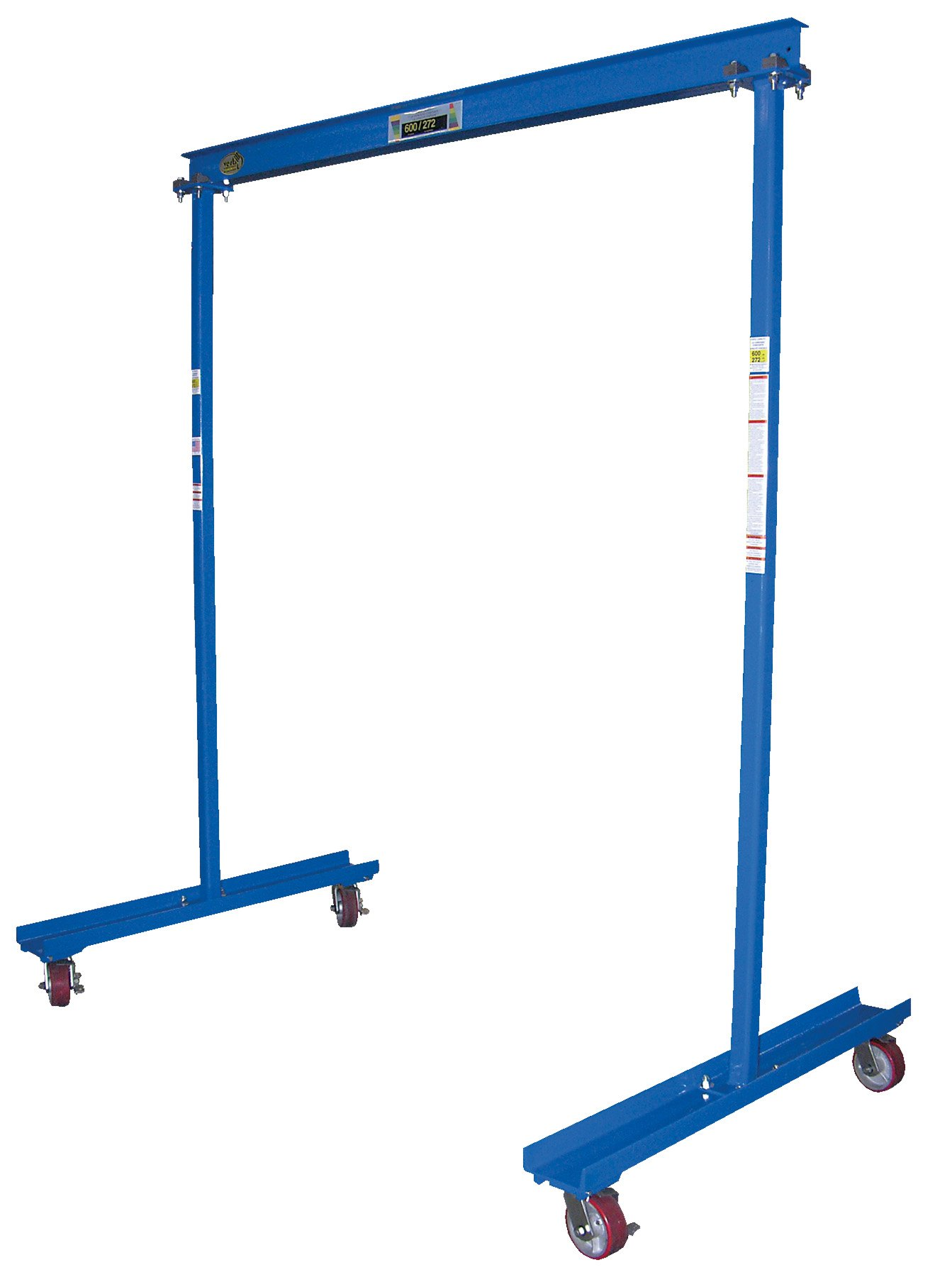 Vestil FPG-10 Work Area Portable Steel Gantry Crane, 1000 lbs Capacity
