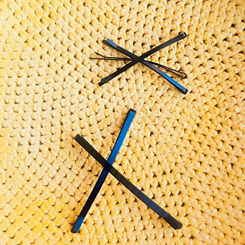 No paint chips! Black Large word folder hairpin long thick black fringe broken stick clip edge clip clip hairpin Headwear for women girl (Chip Stick Pin)