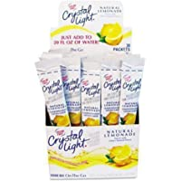 CrystalLig Flavored Drink Mix, Lemonade, 30 0.17oz Packets/Box