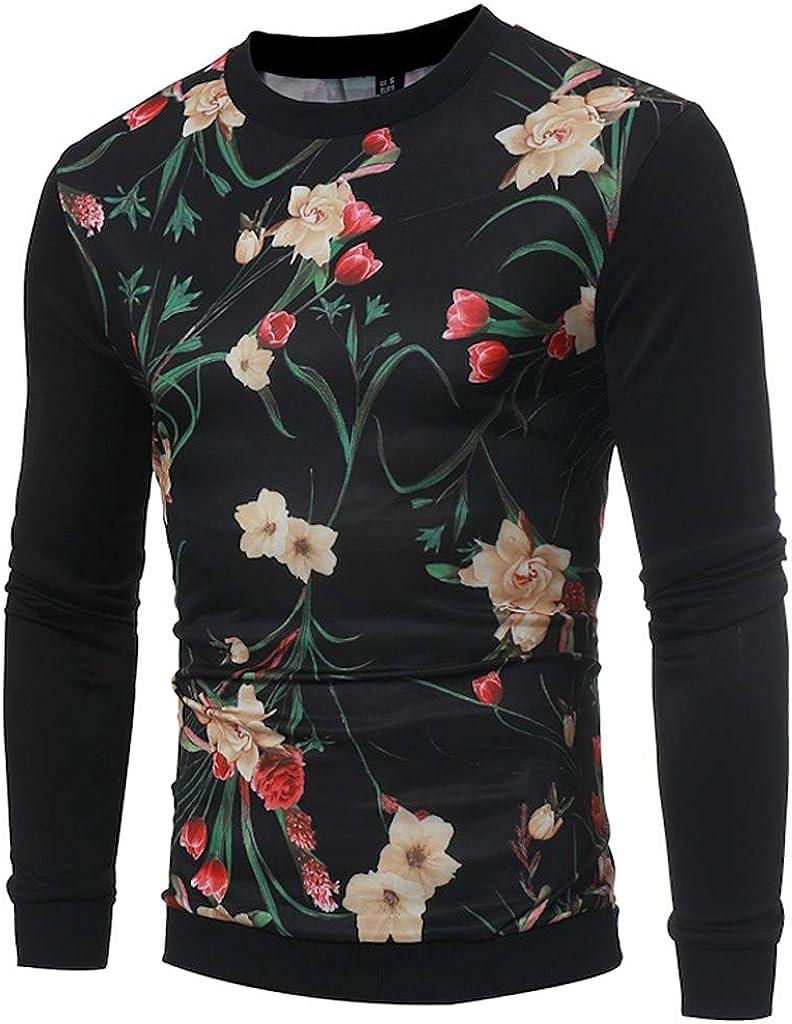 VEZAD Men Spring Autumn Cotton T Shirt Solid Color Long Sleeve Top