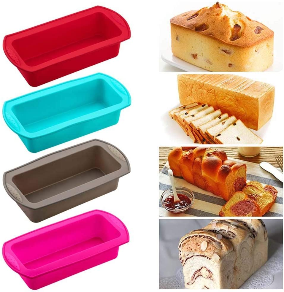 MZY1188 Molde Rectangular de Silicona, Molde para Hornear de Silicona Resistente a la Temperatura, Molde para tostar Dulces Molde para Hornear DIY Suministros de Cocina Pastel