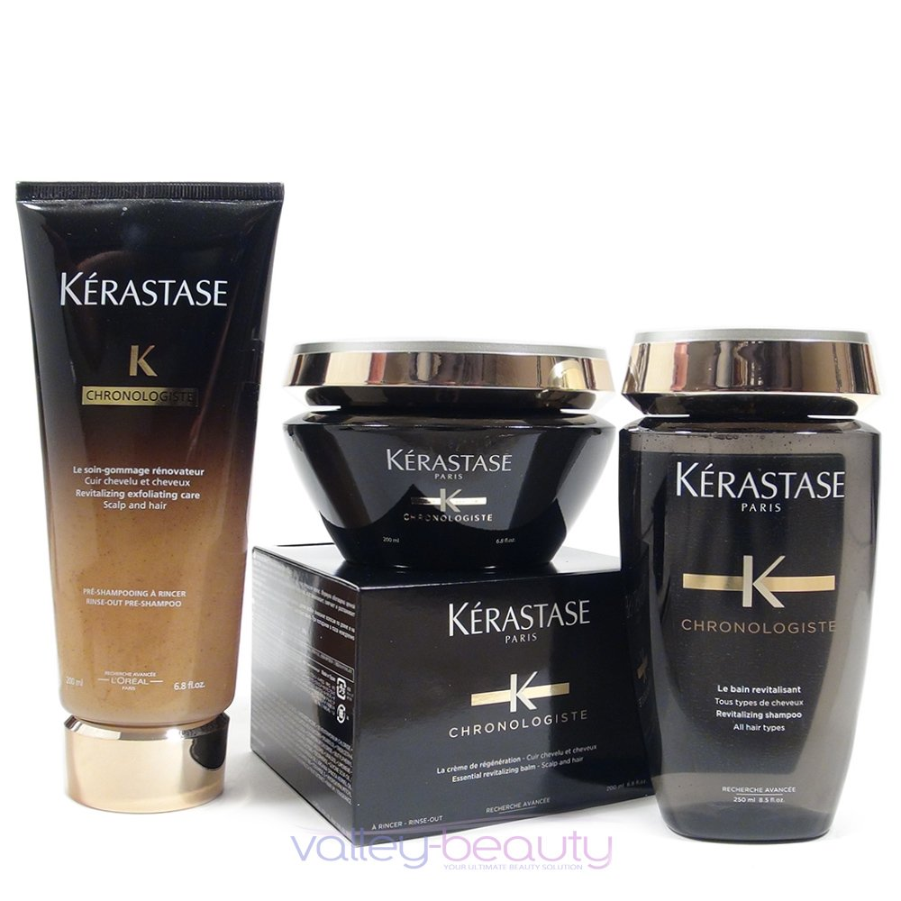 Kerastase Chronologiste Revitalizing Shampoo Care Conditioner And Balm Treatment Trio by Kerastase (Image #1)