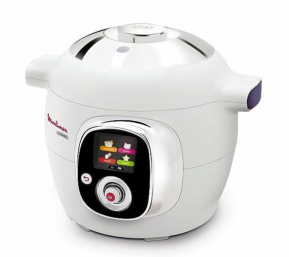 Moulinex Cookeo CE701010 - Robot de cocina (1200 W, capacidad para 6 comensales, capacidad de 6 l, 50 recetas), color blanco
