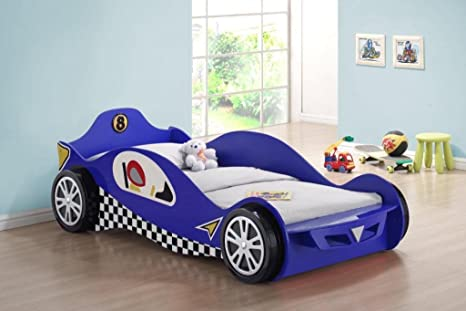 Gizmo Mill Chic Azul McLaren Racer Kids niños Cama con a Juego colchones