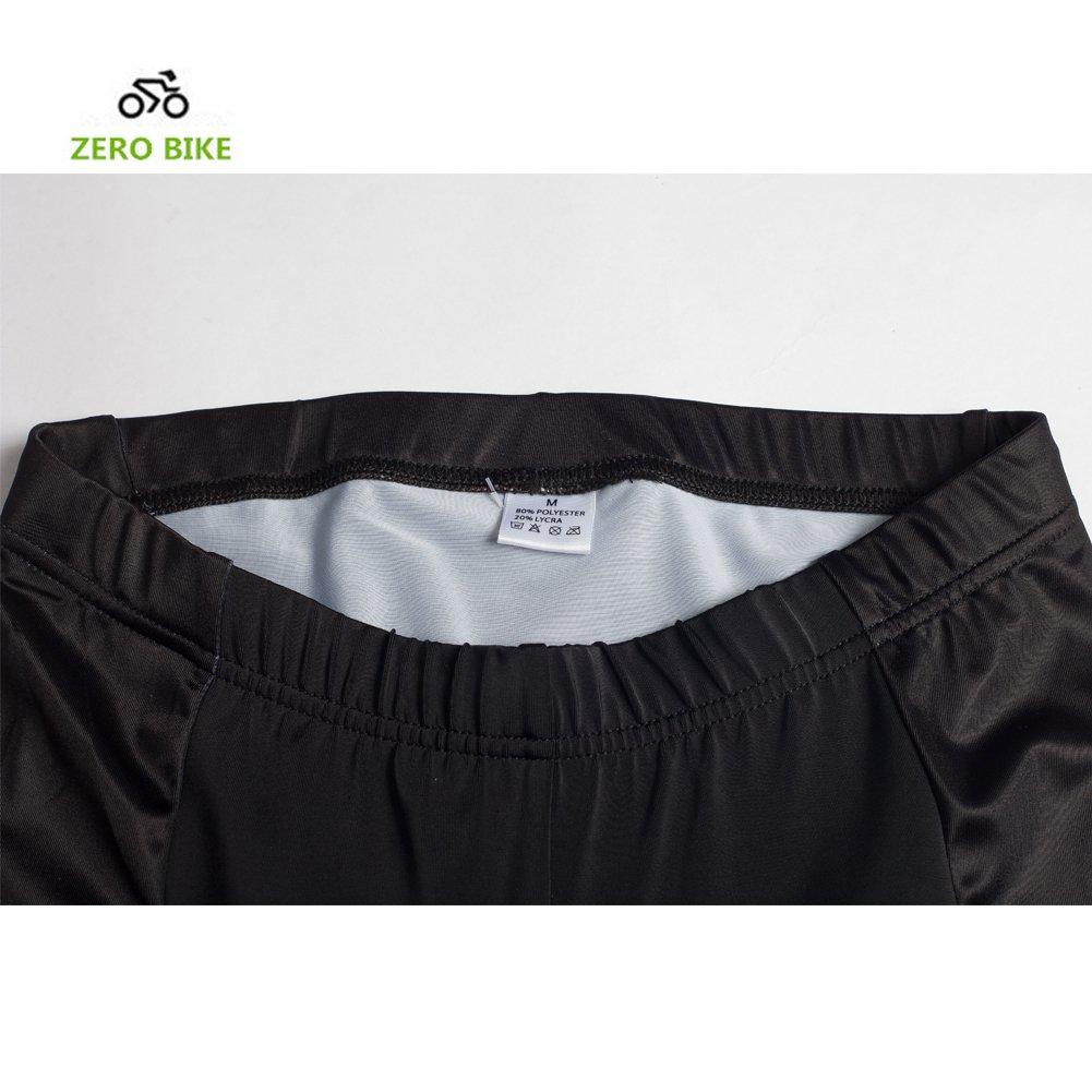 ZEROBIKE/® Brevi comodi pantaloni di riciclaggio della bici da uomo Gel imbottito Bike Shorts