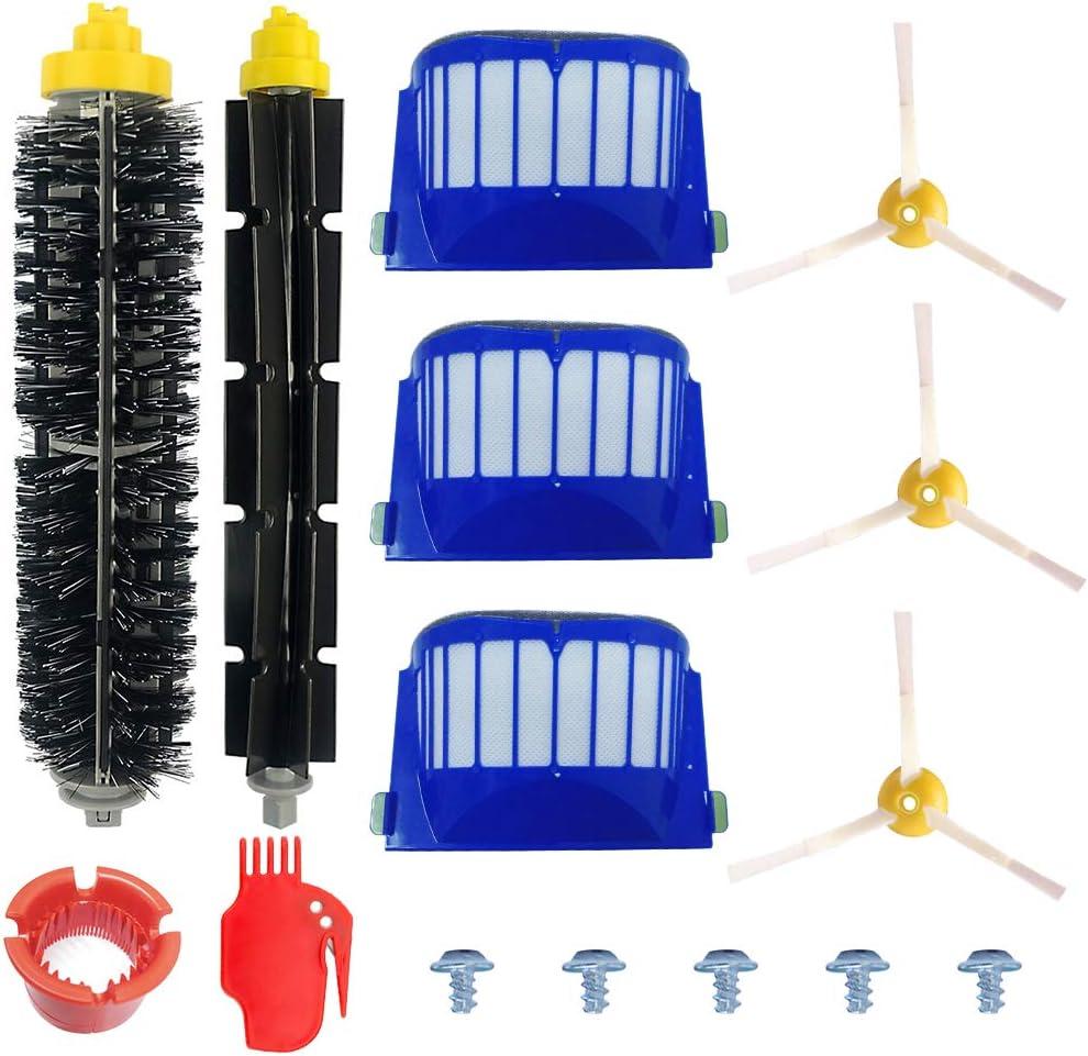 ABClife Kit Cepillos Repuestos de Accesorios Compatible con Aspiradoras iRobot Roomba Serie 600 605 610 615 616 620 625 630 631 632 639 650 651 660 670 680 681 691-15PCS