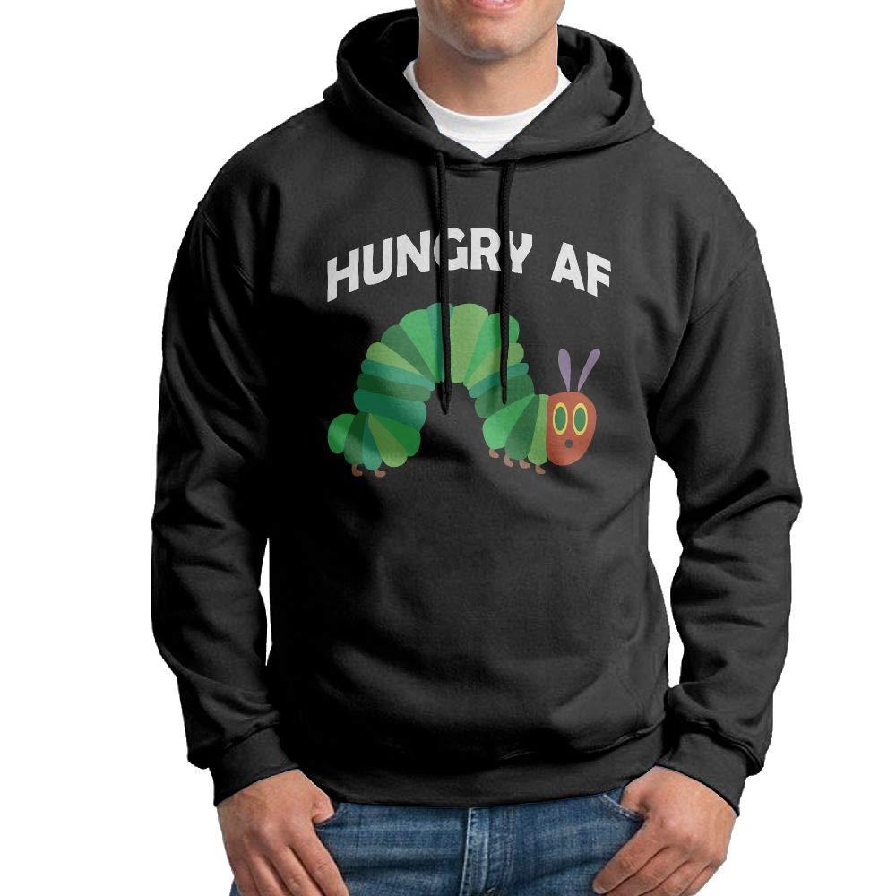 Kkajjhd Hunger AF Sweatshirt Autumn Winter Mens Long Sleeve Pullovers