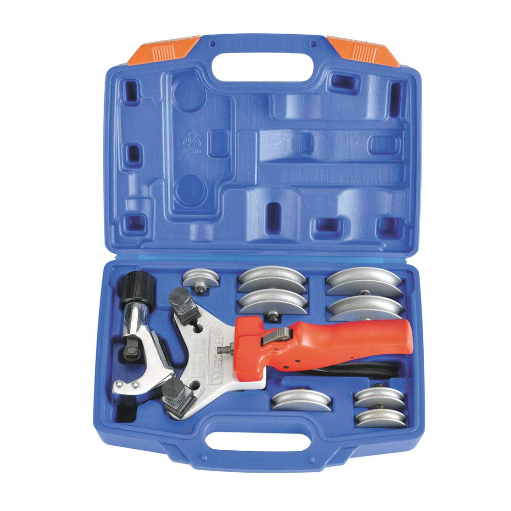 Tube Bender Set Copper Pipe Tubing Bending Tool Kit 90-Degree Multi Size Bending Device Includes Tube Cutter with Carry Box, for 1/4,5/16, 3/8,1/2 Inch, 5,6,8,10,12mm HVAC Refrigeration Tools By VSOON