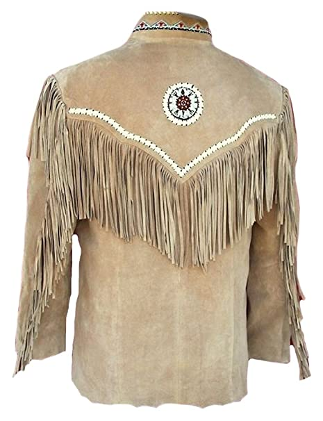 Classyak pour Homme Cowboy à Franges Motokit Cuir en Daim de Haute qualité  pour Homme  Amazon.fr  Vêtements et accessoires 7608a1aeaa37