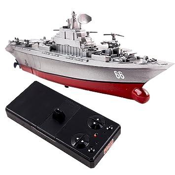 deAO RC Mini Battleship Remote Control Mini Aircraft Carrier